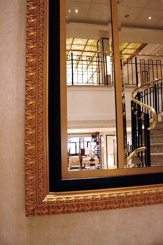 Großer Goldspiegel – Außenmaß 410 cm x 210 cm (Detail)